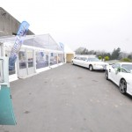 Panoramic Entrance, Limo & Porsche as Wedding Fayre Entrance
