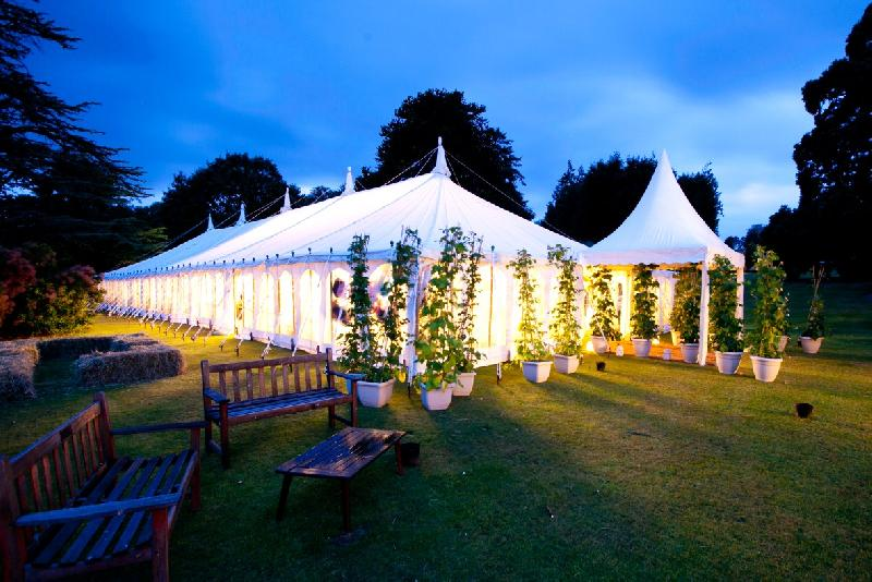 Traditional Canvas Marquee - Night Time