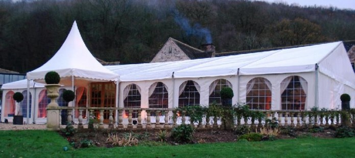 One of our clearspan marquees for hire and rent