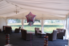 Marquee looking the part for 21st birthday party