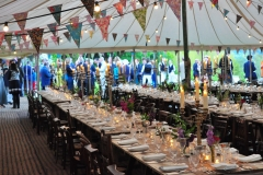 Guests before the party under the marquee