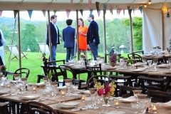 Guests starting to arrive and looking forward to a party under a marquee