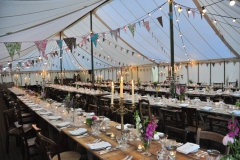 Inside the party marquee