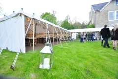 Party guests arrive for the event in Hay-on-Wye