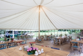 Traditional Marquee with wooden flooring