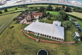 Arial view of Traditional Marquee
