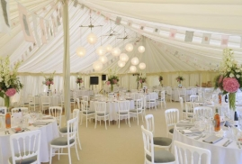 Marquee on hire at Lemore Manor, Herefordshire