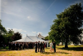 Reception Drinks in front of the Marquee