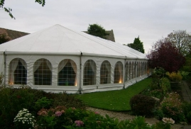Clearspan Marquee with Octagonal end