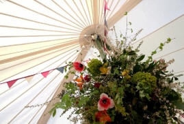 Flowers in traditional Marquee