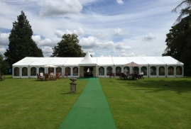 Clearspan Marquee with walkway