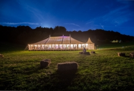 Traditional marquee at night external