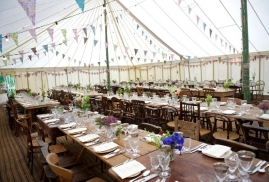 Marquee-Decorated-With-Lots-Of-Bunting