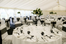 Marquee Set Up And Ready For Event