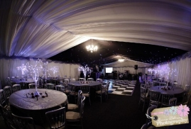 Marquee Set Up With Dancefloor For Party