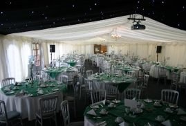 Marquee With Projector Set Up And Ready To Go
