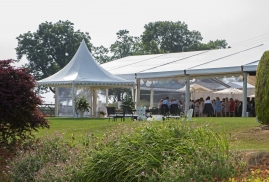 Clearspan Marquee with Pagoda