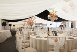 Chillie Breeze decoration in Clearspan Marquee