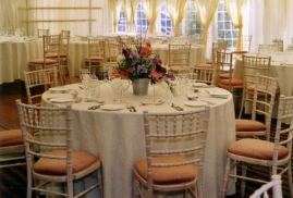 Tables-All-Decorated-In-Time-For-Party-In-A-Marquee-To-Hire