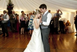 Wedding-Couple-Dancing-At-Marquee-Wedding-Party