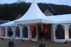 Traditional marquee on pebbles