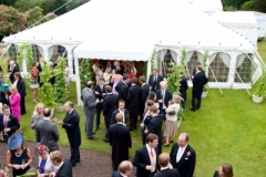Classic traditional marquee on grass