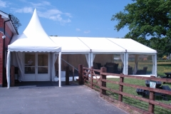 Marquee on both grass and tarmac
