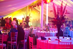 Guests enjoying themselves at party in marquee Pudlestone Herefordshire