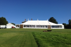 Marquee for a party wonderful weather in Pudlestone Herefordshire