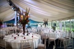 Marquee setup and ready for the party event and guests