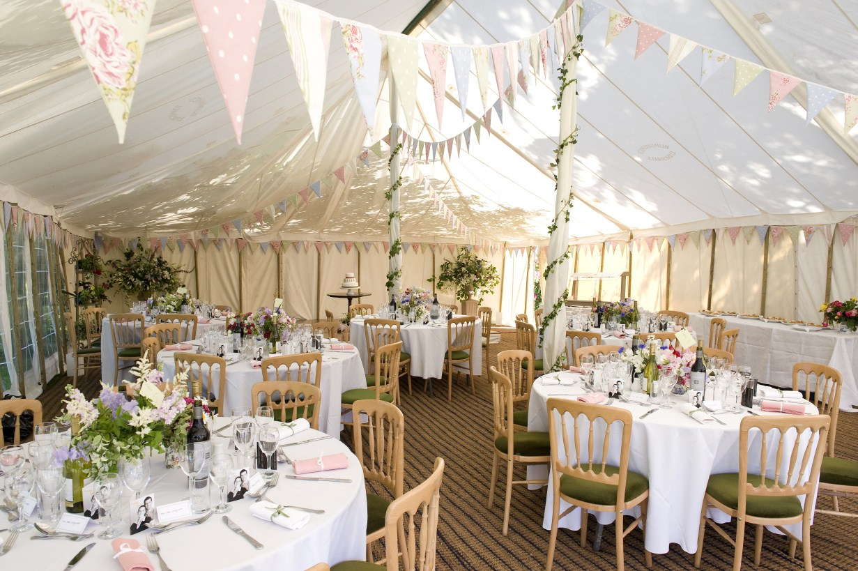 traditional wedding case study burgoynes marquees