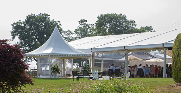 Modern Clearspan Marquee In Field