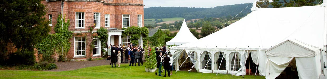 Traditional Wedding Marquee, Marquee with pagoda entrance and small annex