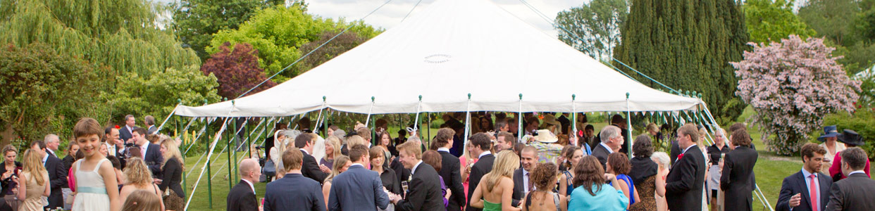 Traditional Wedding Marquee, 30' Wide Marquee roof canopy