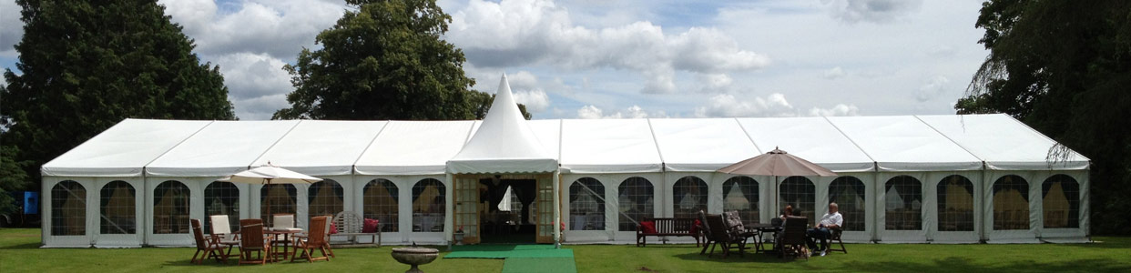 Clearspan Wedding Marquee, Georgian window walls and pagoda entrance