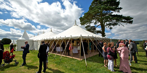 Traditional Wedding Marquee in Summer