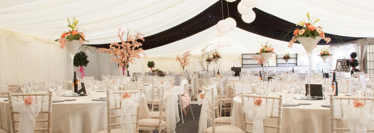 Cream and Pead Wedding Interior
