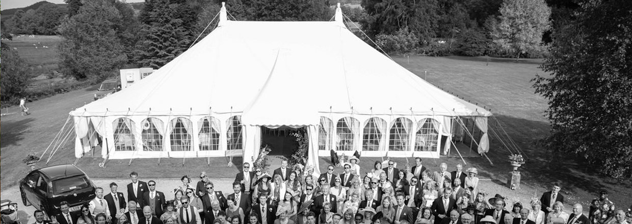 Traditional Wedding Marquee With Guests
