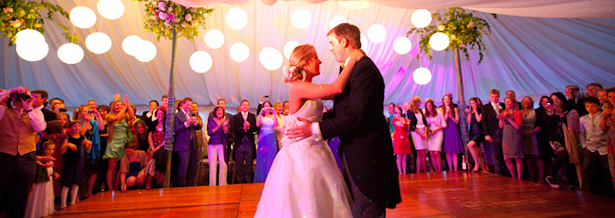 Their first dance...in a beautiful Burgoynes Marquee