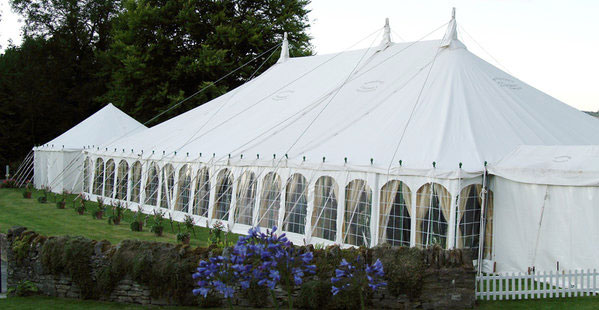 Stylish Traditional Marquee In Garden