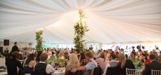 Lined traditional, beautiful marquee