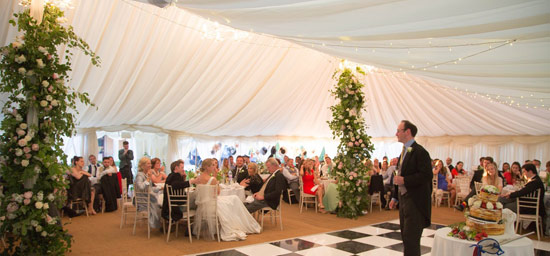 Time for speeches in traditional marquee
