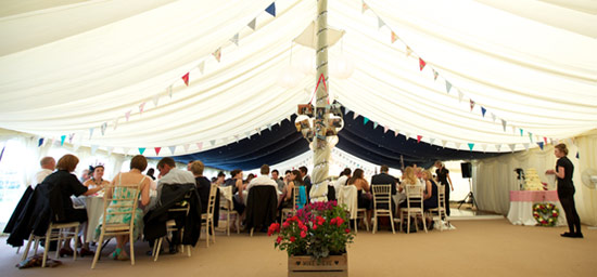 Traditional lined marquee