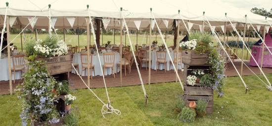 Open sided traditional unlined marquee