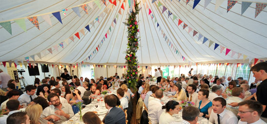 Wedding favourite - the traditional marquee