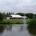 Marquee next to river a wonderful setting for any wedding