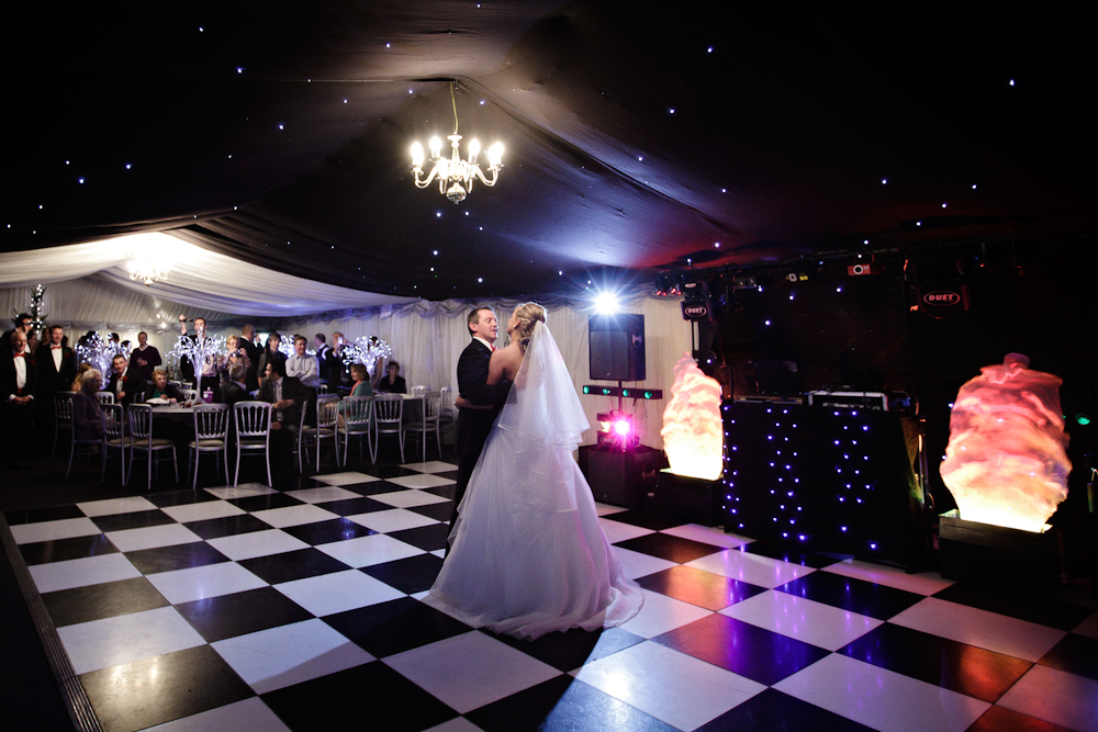 Christmas wedding case study burgoynes marquees for 12 by 12 dance floor
