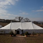 The Marquee for Tania and Matthews wedding in Bridgnorth Shropshire