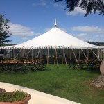 Marquee ready before guests arrived
