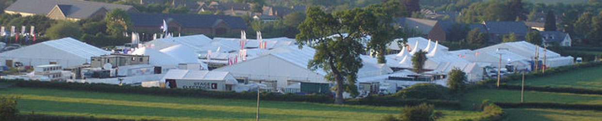 Marquees at agricultural shows